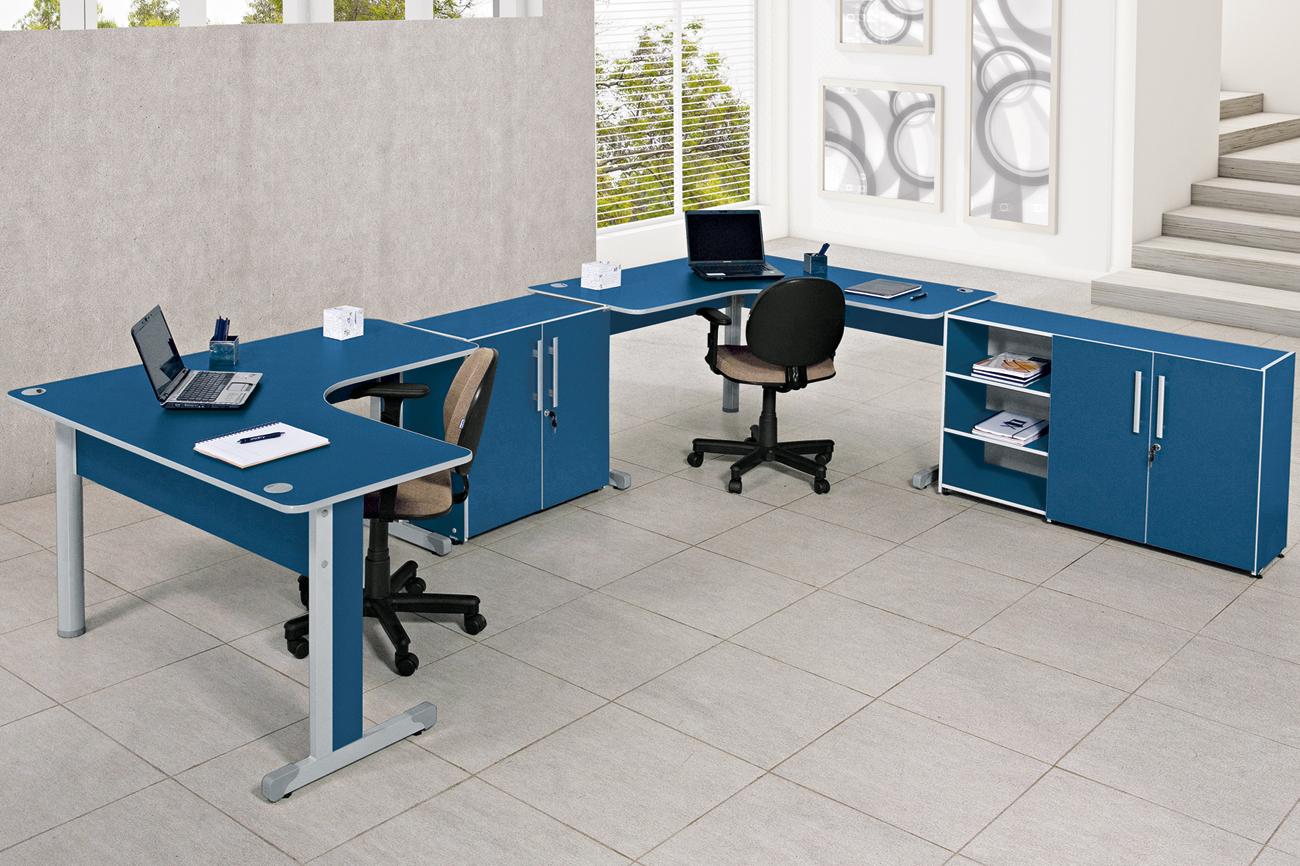 influência das cores Inter Offices Móveis para Escritórios SP #184C70 1300x866