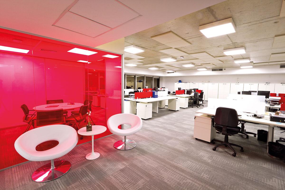 influência das cores Inter Offices Móveis para Escritórios SP #B51643 1200x800
