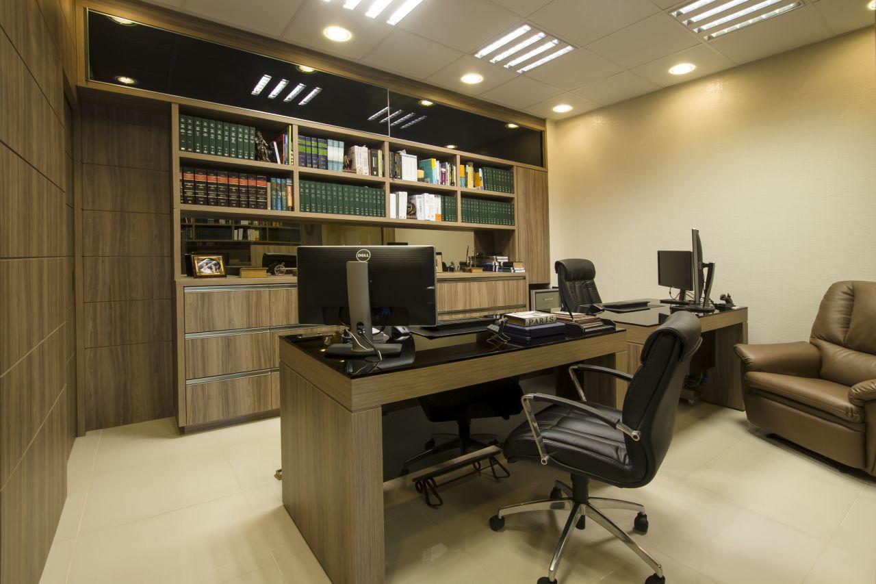 Móveis para escritório – Decoração de escritório de advocacia  #986D33 1280x853