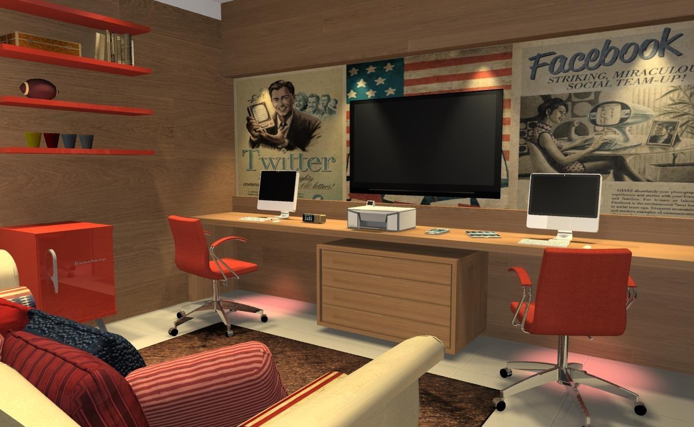 Móveis Para Escritórios Visual Requinte E Sofisticação Para Seu  #A98122 1416x872
