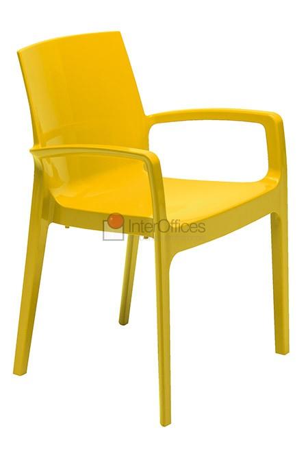 Poltrona Decorativa Cream Amarela