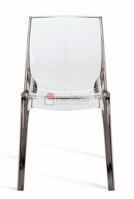 Poltrona decorativa Femme Fatale transparente