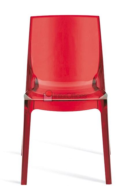 Poltrona decorativa Femme Fatale vermelha