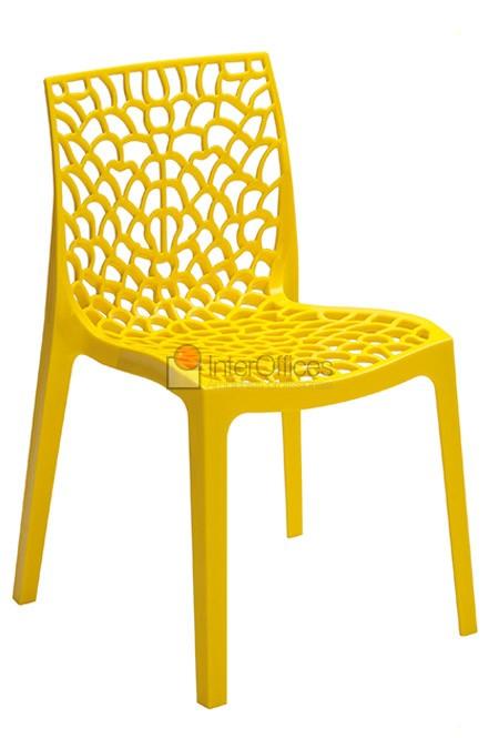 Poltrona decorativa Gruvyer amarela