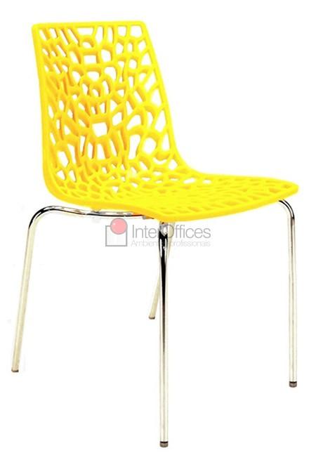 Poltrona decorativa Groove amarela