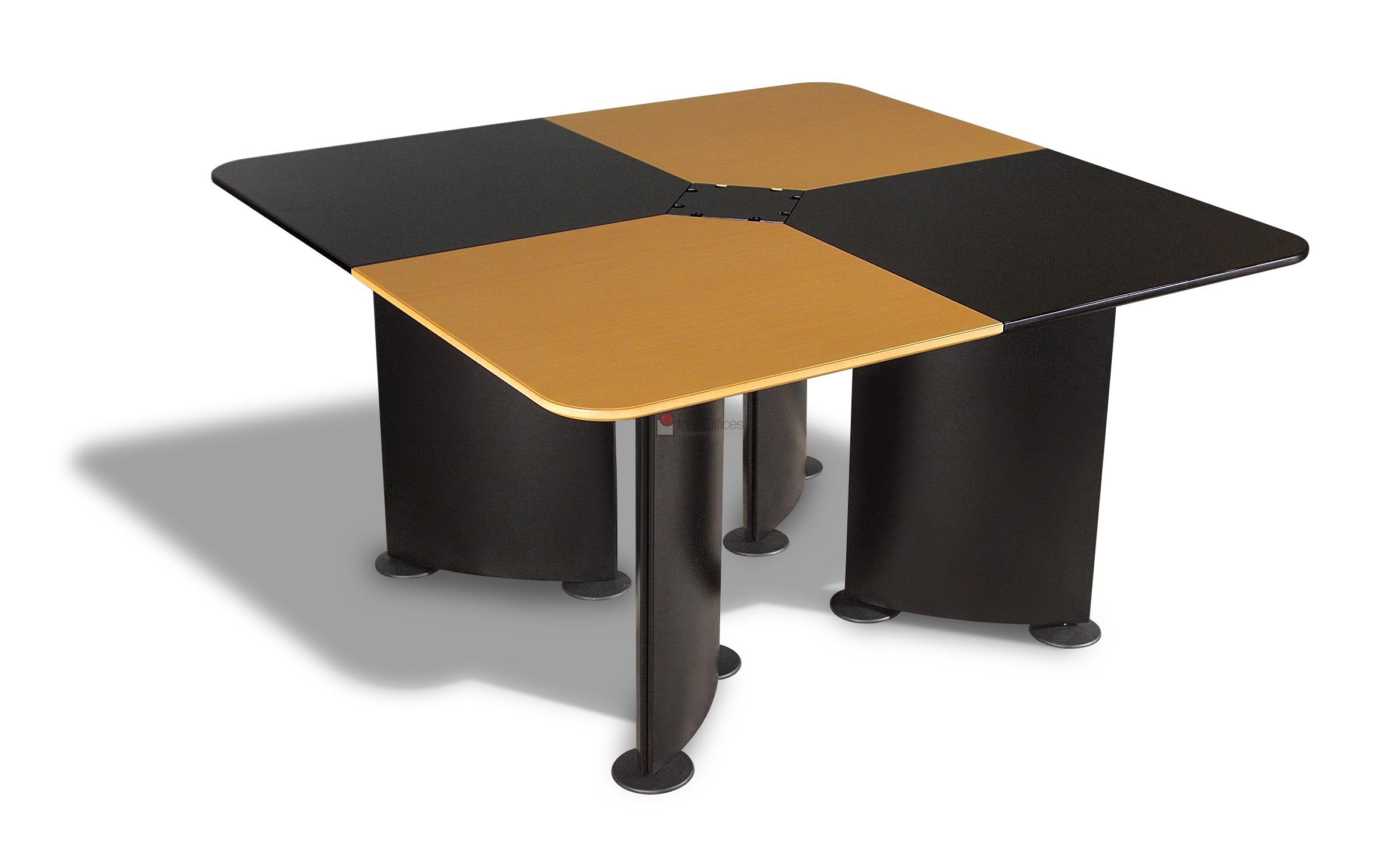 mesa reunião quadrada 2 cores
