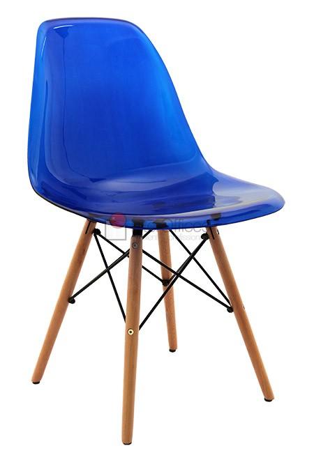 Poltrona decorativa OR 1101 madeira azul