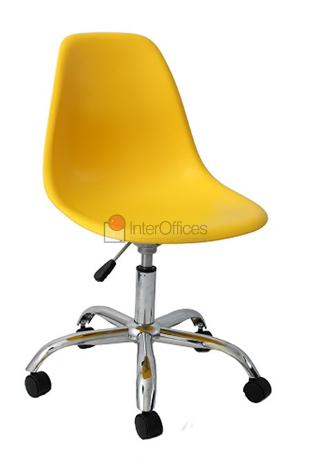 Poltrona decorativa OR 1102 rodízio amarela