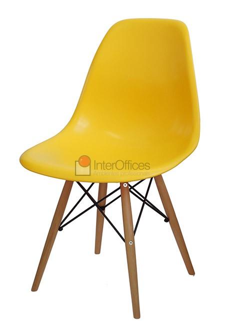 Poltrona decorativa OR 1102 madeira amarela