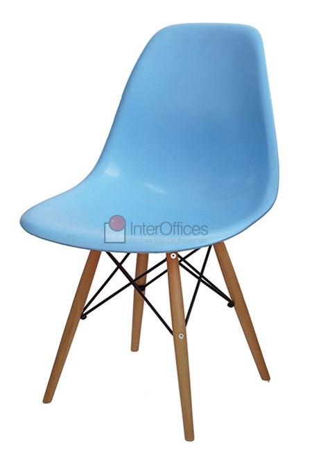 Poltrona decorativa OR 1102 madeira azul