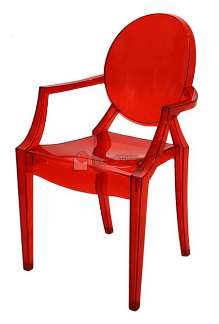 Poltrona decorativa OR 1106 vermelha