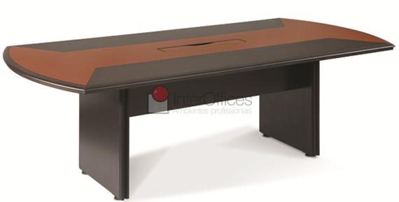 Mesa para reunião retangular 2 cores