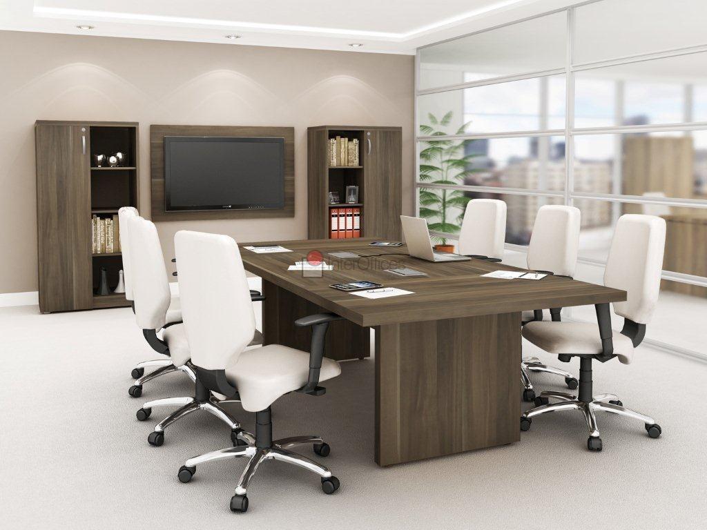 Mesa para reunião retangular em ambiente