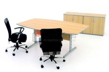 Mesa reunião Semi Oval 4