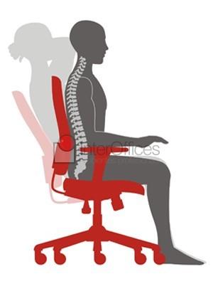 posição da coluna ao sentar na cadeira