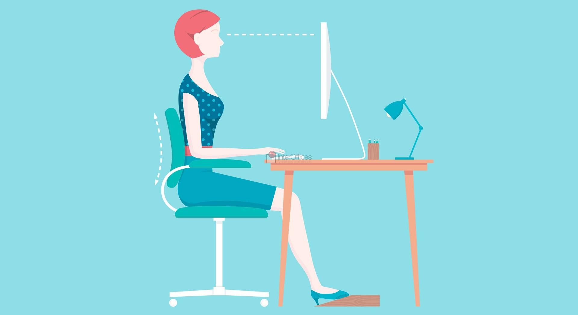 Ergonomia e produtividade no escrit rio inter offices for Escritorio ergonomico